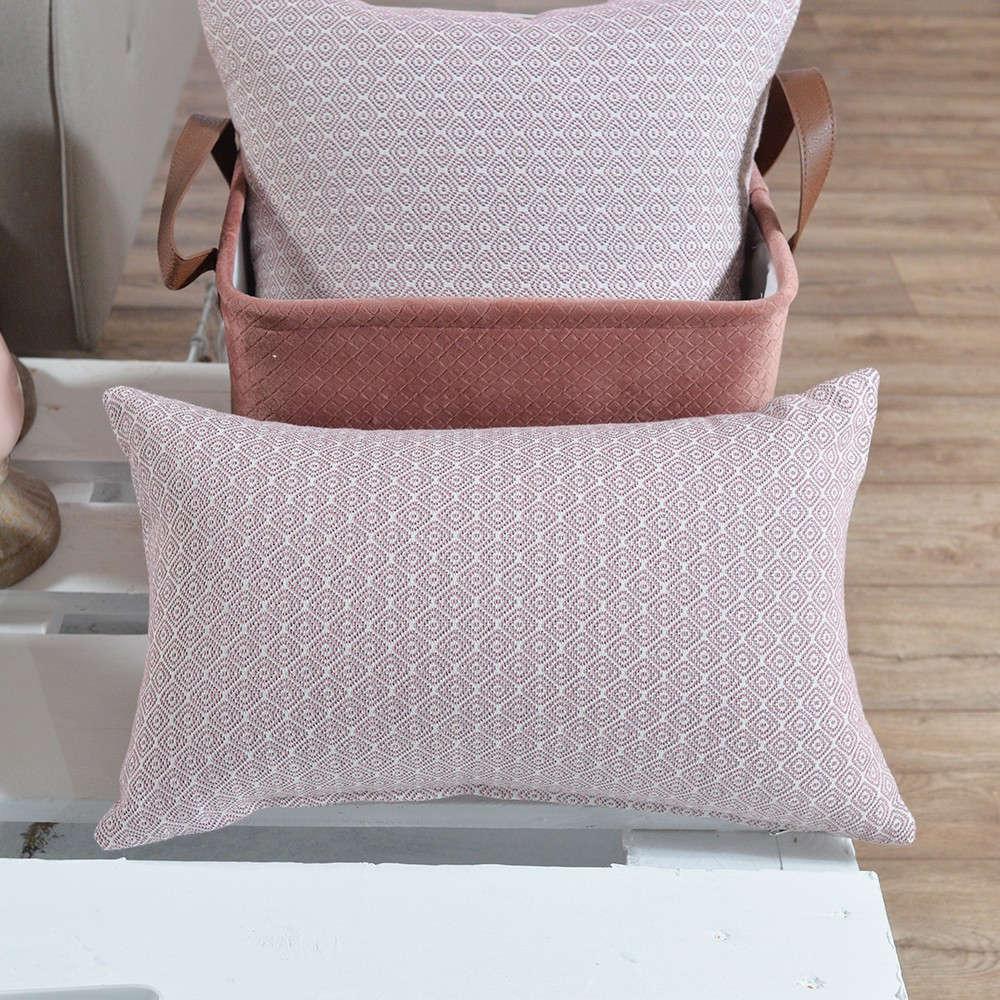 Μαξιλαροθήκη Διακοσμητική Pescara 06 Pink Teoran 30Χ50 Βαμβάκι-Polyester