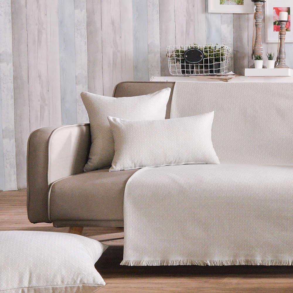Μαξιλαροθήκη Διακοσμητική Pescara 04 Grey Teoran 60X60 Βαμβάκι-Polyester