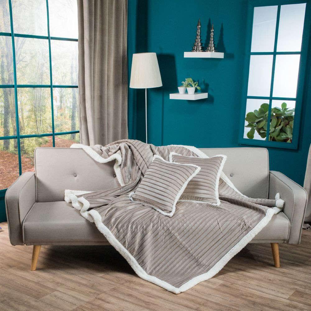 Κουβέρτα Καναπέ Fold 07 Beige Teoran 150X200