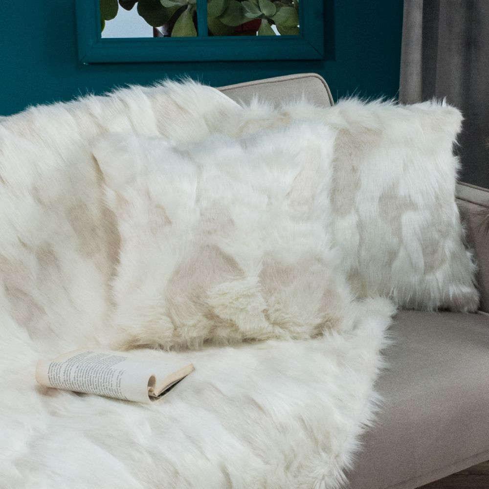 Μαξιλάρι Διακοσμητικό (Με Γέμιση) Pelt 12 White Teoran 45X45 100% Ακρυλικό