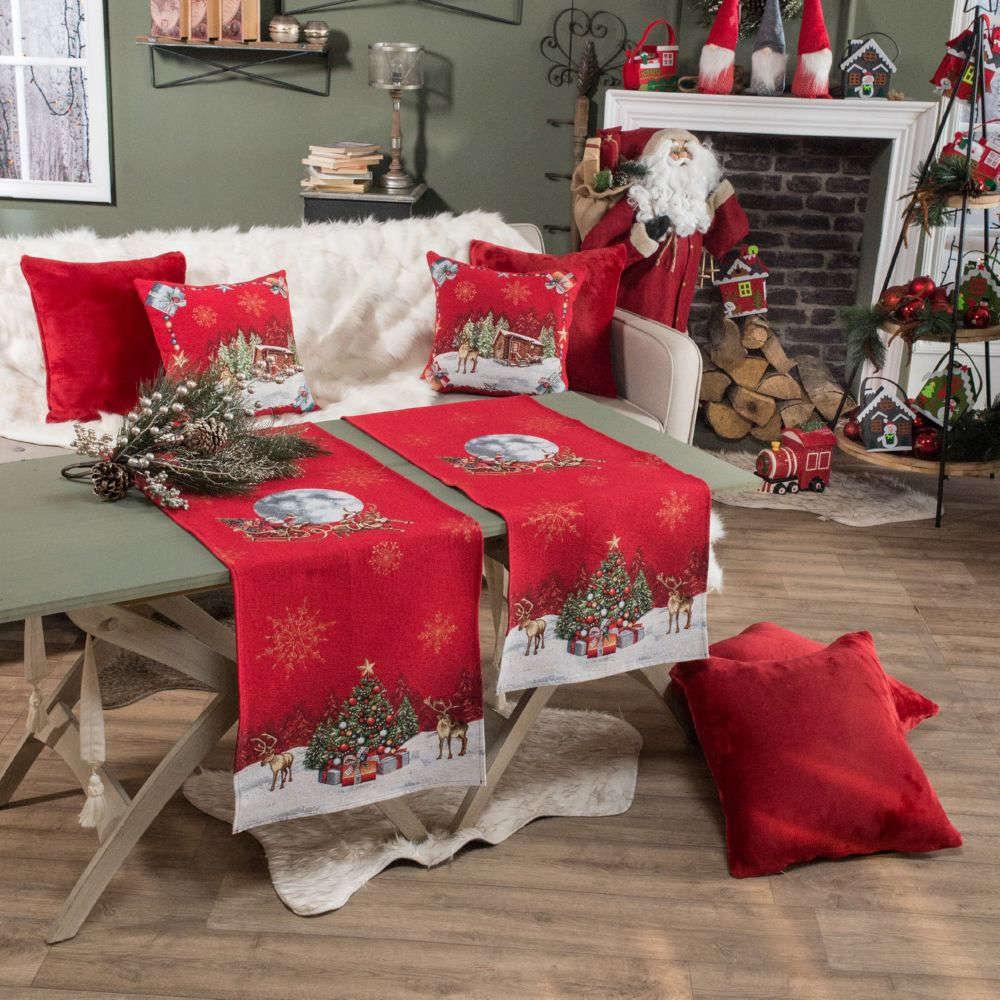 Τραβέρσα Χριστουγεννιάτικη Rudolph Red Teoran 40Χ150