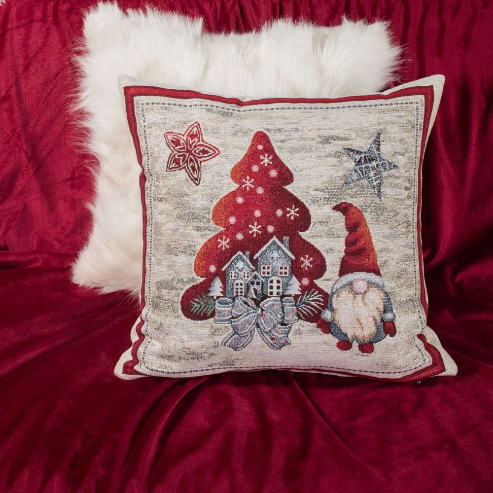 Μαξιλάρι Διακοσμητικό Χριστουγεννιάτικο (Με Γέμιση) Elf Multi Teoran 45X45