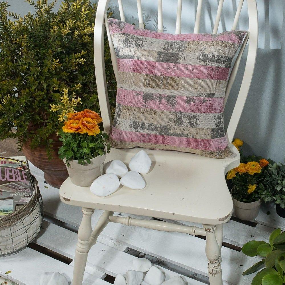 Μαξιλάρι Διακοσμητικό (Με Γέμιση) Salerno 06 Pink Teoran 45X45 Βαμβάκι-Polyester