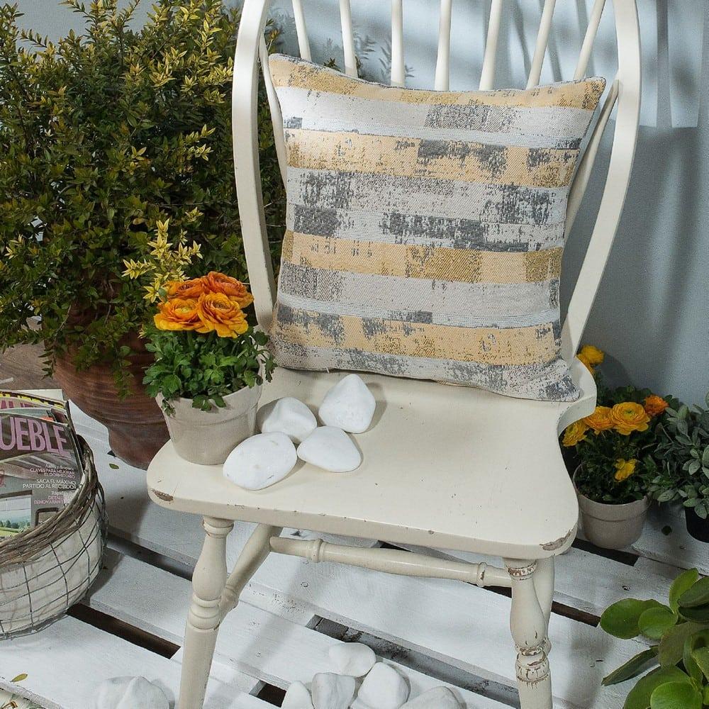 Μαξιλάρι Διακοσμητικό (Με Γέμιση) Salerno 14 Yellow Teoran 45X45 Βαμβάκι-Polyester