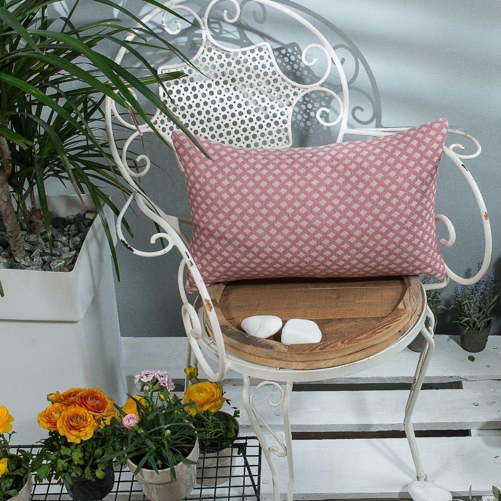 Μαξιλάρι Διακοσμητικό (Με Γέμιση) Bellagio 06 Pink Teoran 30Χ50 Βαμβάκι-Polyester