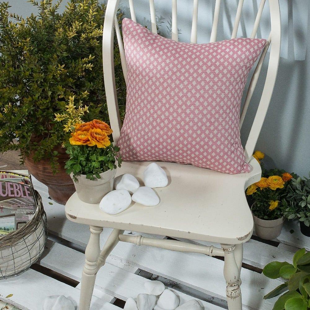 Μαξιλάρι Διακοσμητικό (Με Γέμιση) Bellagio 06 Pink Teoran 45X45 Βαμβάκι-Polyester