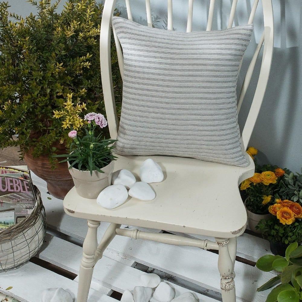 Μαξιλάρι Διακοσμητικό (Με Γέμιση) Capri 04 Grey Teoran 45X45 Βαμβάκι-Polyester