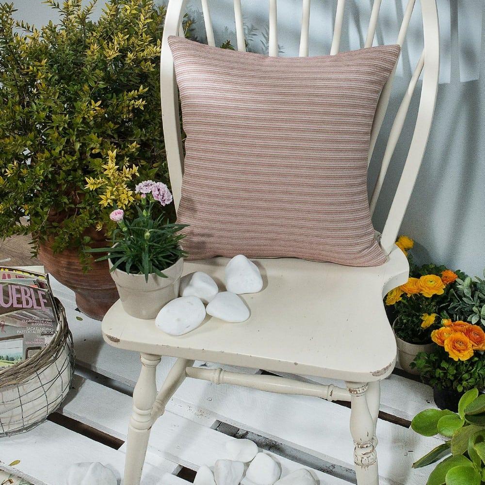 Μαξιλάρι Διακοσμητικό (Με Γέμιση) Capri 06 Pink Teoran 45X45 Βαμβάκι-Polyester