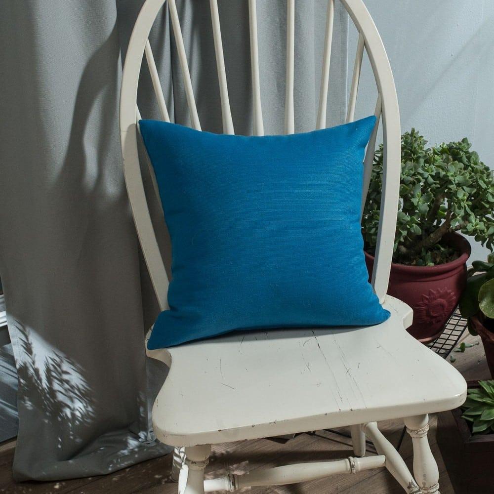 Μαξιλάρι Διακοσμητικό (Με Γέμιση) Chroma 05 Blue Teoran 45X45 Βαμβάκι-Polyester