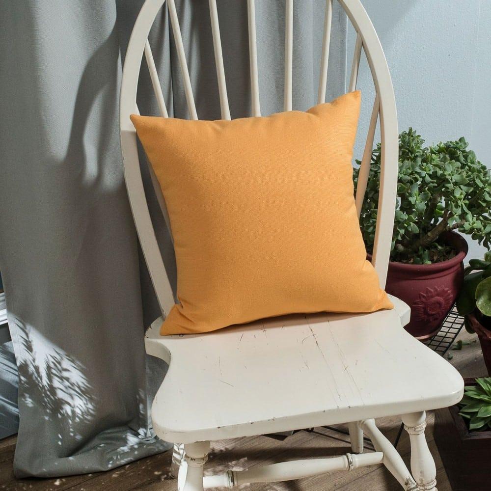 Μαξιλάρι Διακοσμητικό (Με Γέμιση) Chroma 14 Orange Teoran 45X45 Βαμβάκι-Polyester