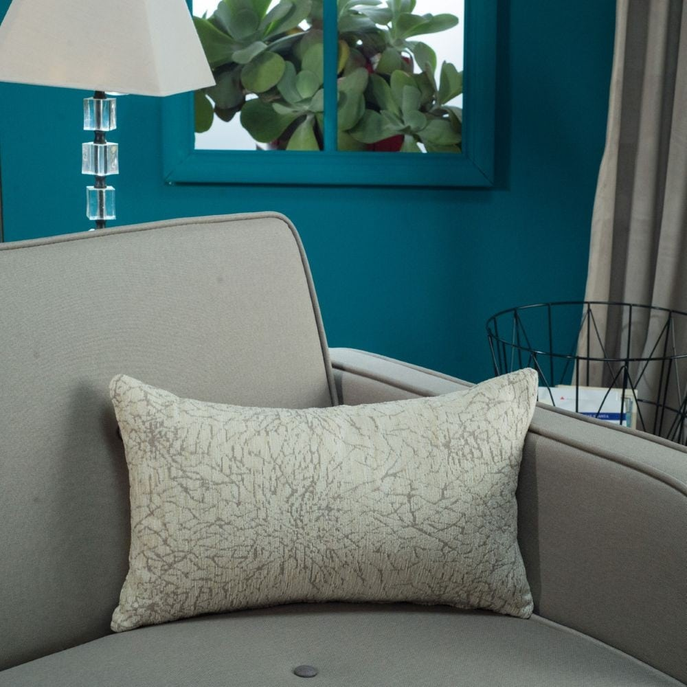 Μαξιλάρι Διακοσμητικό (Με Γέμιση) Dallas 01 Ecru Teoran 30Χ50 Ακρυλικό-Polyester