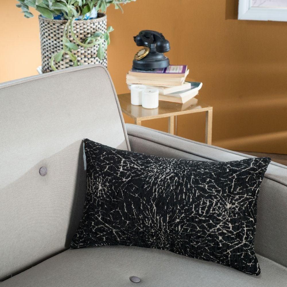 Μαξιλάρι Διακοσμητικό (Με Γέμιση) Dallas 09 Black Teoran 30Χ50 Ακρυλικό-Polyester