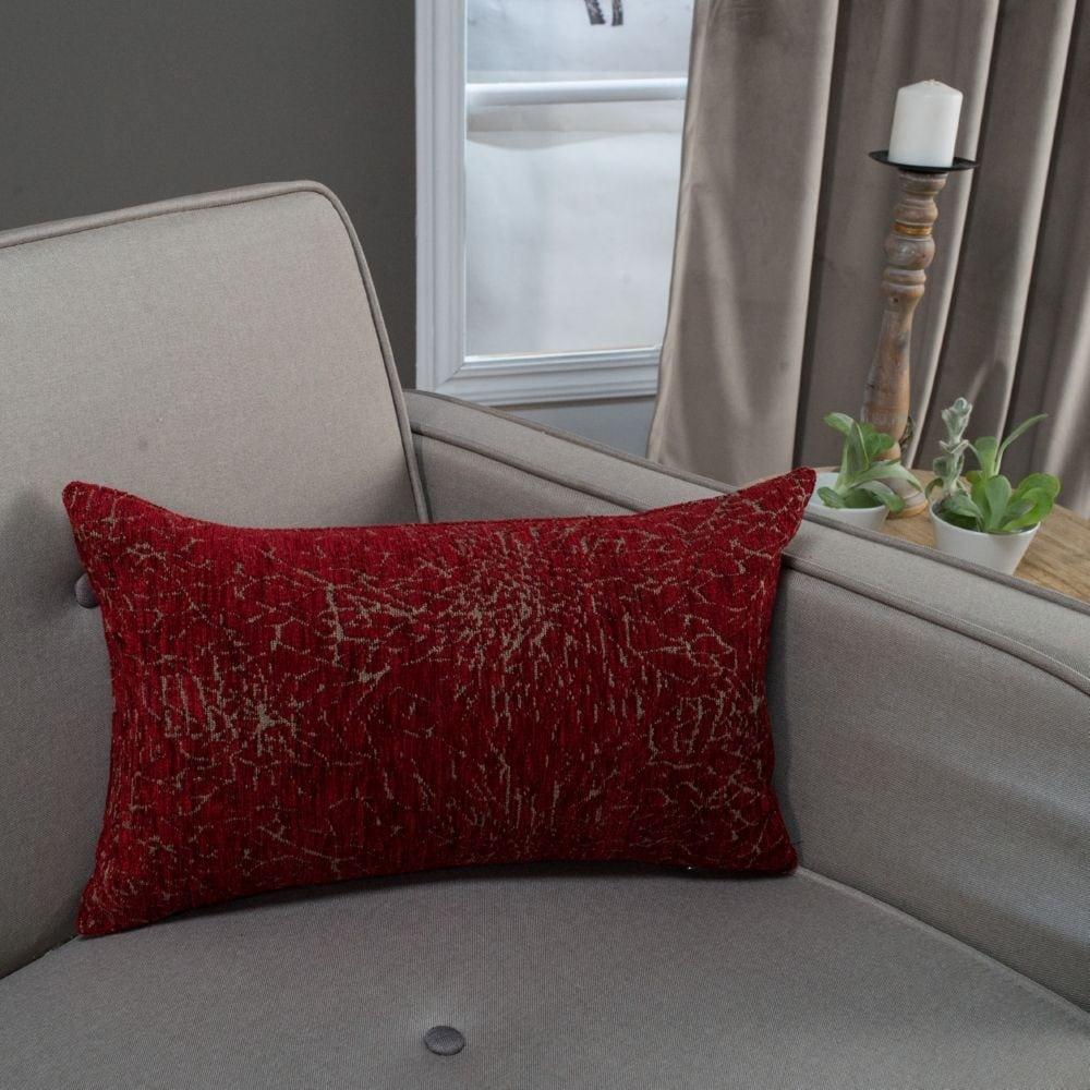 Μαξιλάρι Διακοσμητικό (Με Γέμιση) Dallas 10 Bordo Teoran 30Χ50 Ακρυλικό-Polyester