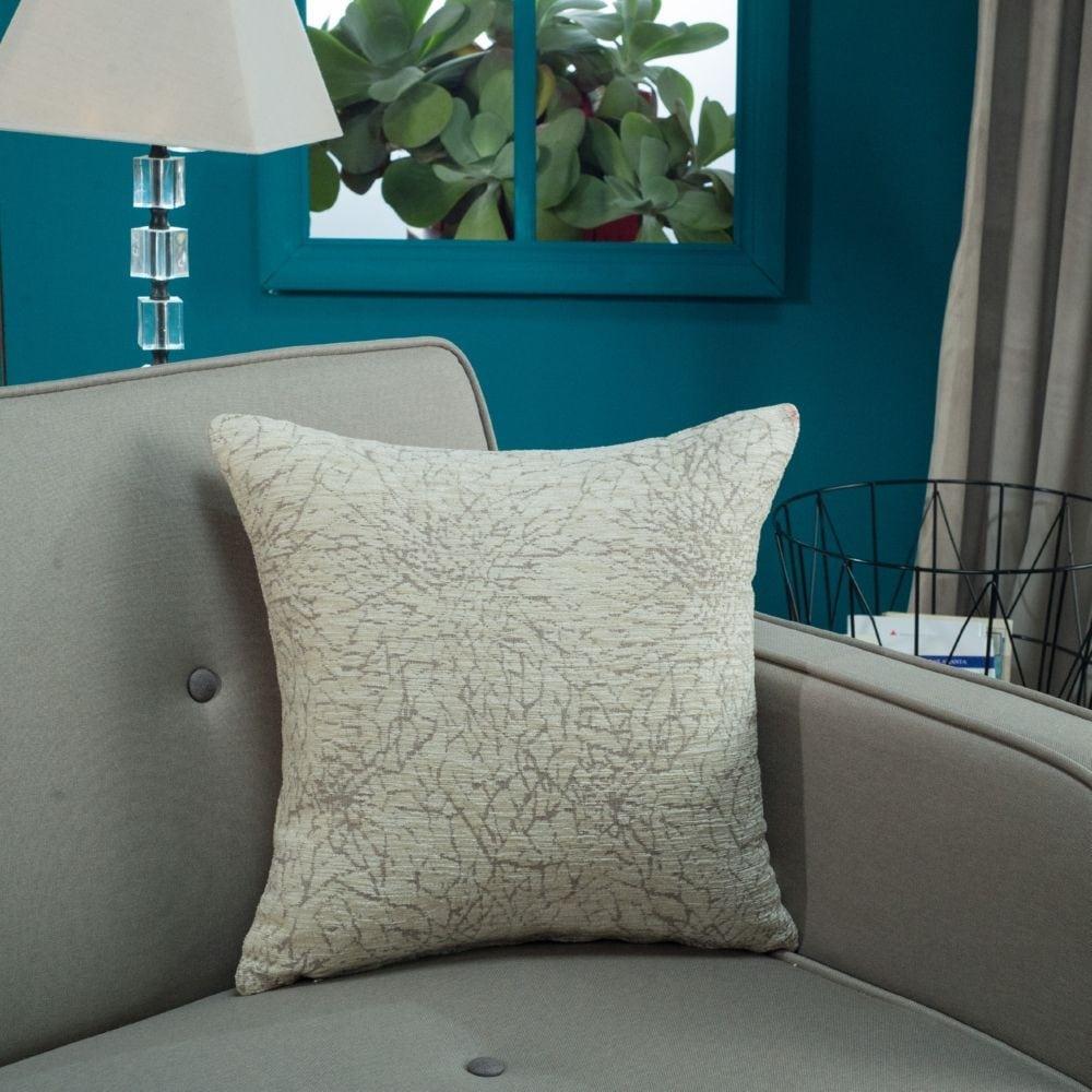 Μαξιλάρι Διακοσμητικό (Με Γέμιση) Dallas 01 Ecru Teoran 45X45 Ακρυλικό-Polyester