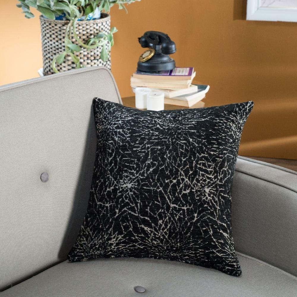 Μαξιλάρι Διακοσμητικό (Με Γέμιση) Dallas 09 Black Teoran 45X45 Ακρυλικό-Polyester