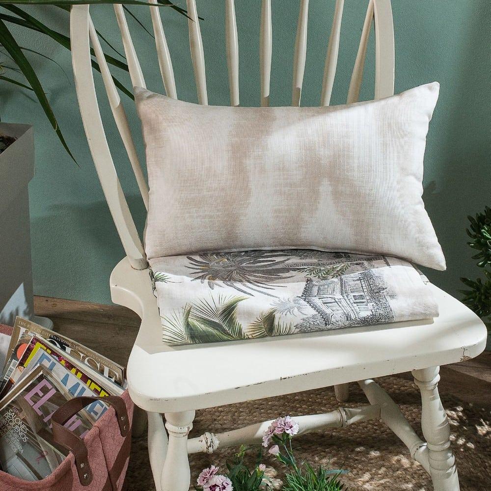 Μαξιλάρι Διακοσμητικό (Με Γέμιση) Mombasa Beige Teoran 30Χ50 Βαμβάκι-Polyester