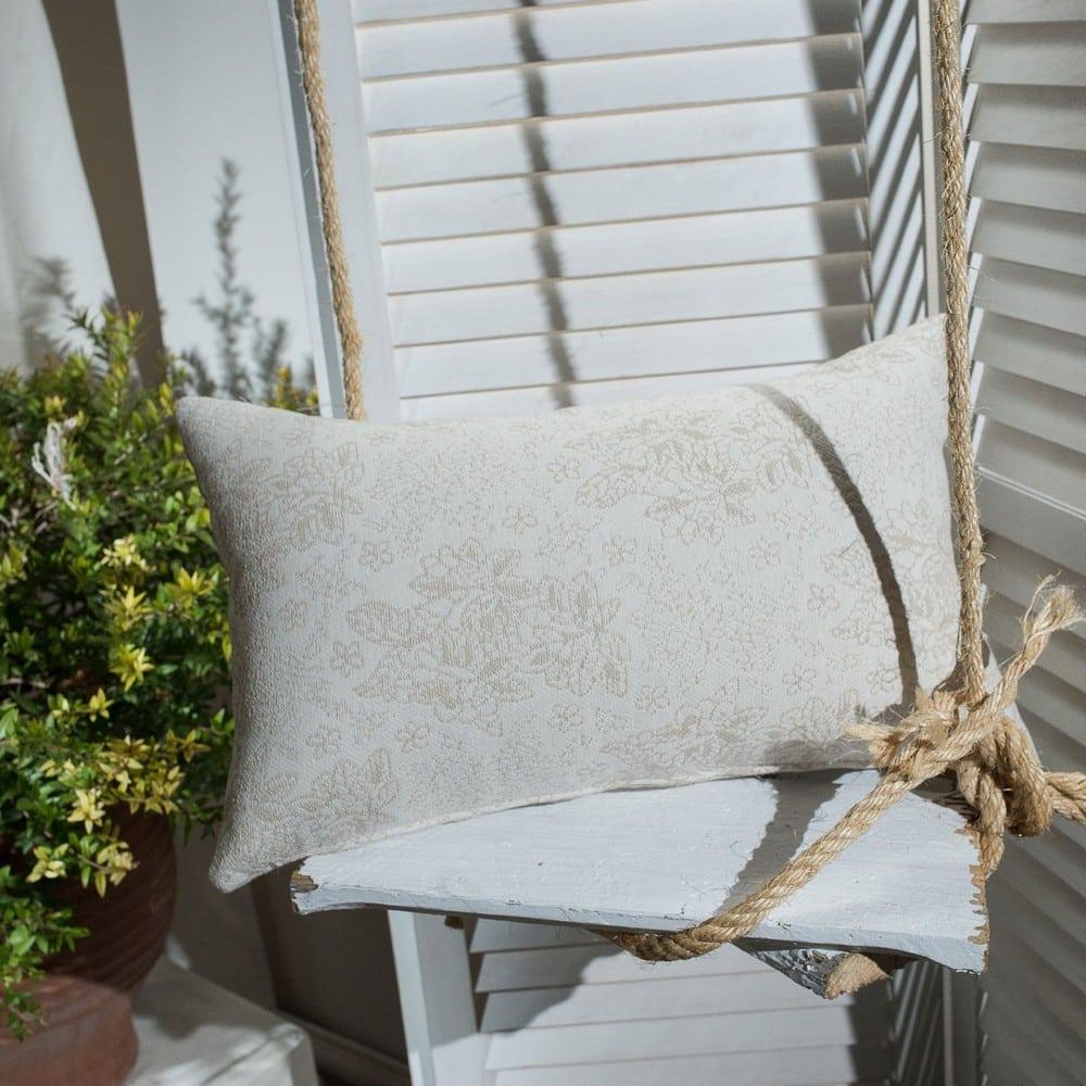 Μαξιλάρι Διακοσμητικό (Με Γέμιση) Monza 01 Ecru Teoran 30Χ50 Βαμβάκι-Polyester