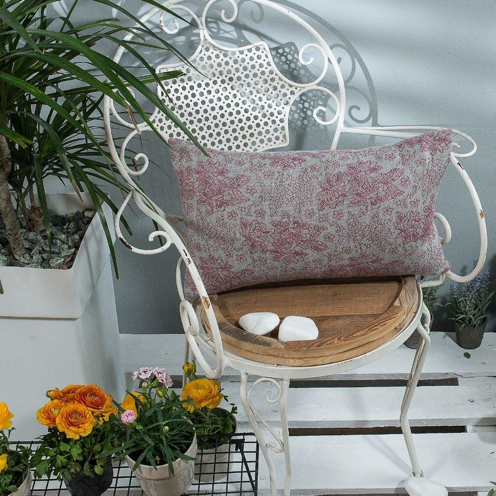 Μαξιλάρι Διακοσμητικό (Με Γέμιση) Monza 06 Pink Teoran 30Χ50 Βαμβάκι-Polyester