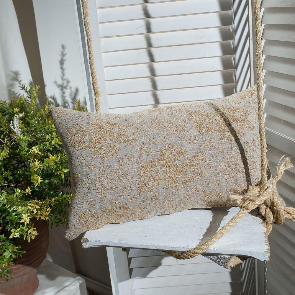 Μαξιλάρι Διακοσμητικό (Με Γέμιση) Monza 14 Yellow Teoran 30Χ50 Βαμβάκι-Polyester