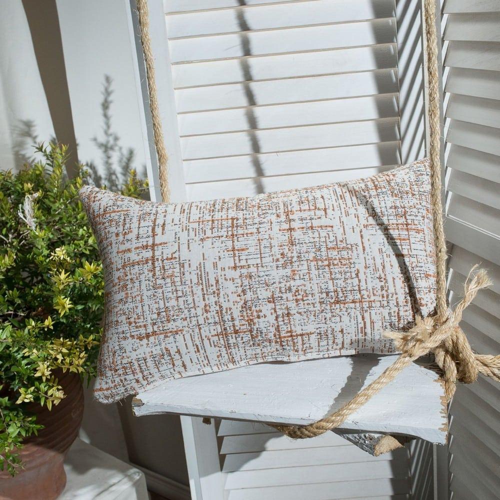 Μαξιλάρι Διακοσμητικό (Με Γέμιση) Positano 15 Terracotta Teoran 30Χ50 Βαμβάκι-Polyester