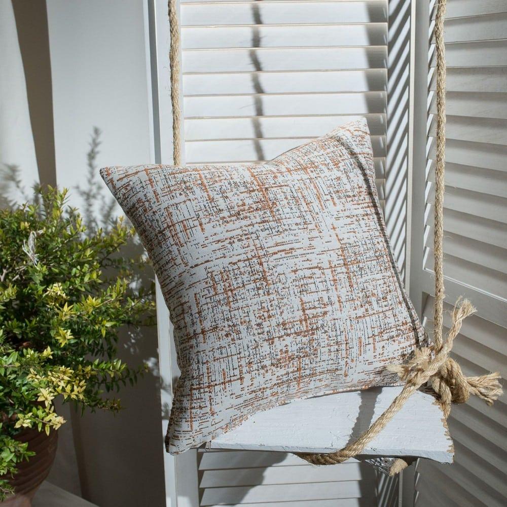 Μαξιλάρι Διακοσμητικό (Με Γέμιση) Positano 15 Terracotta Teoran 45X45 Βαμβάκι-Polyester