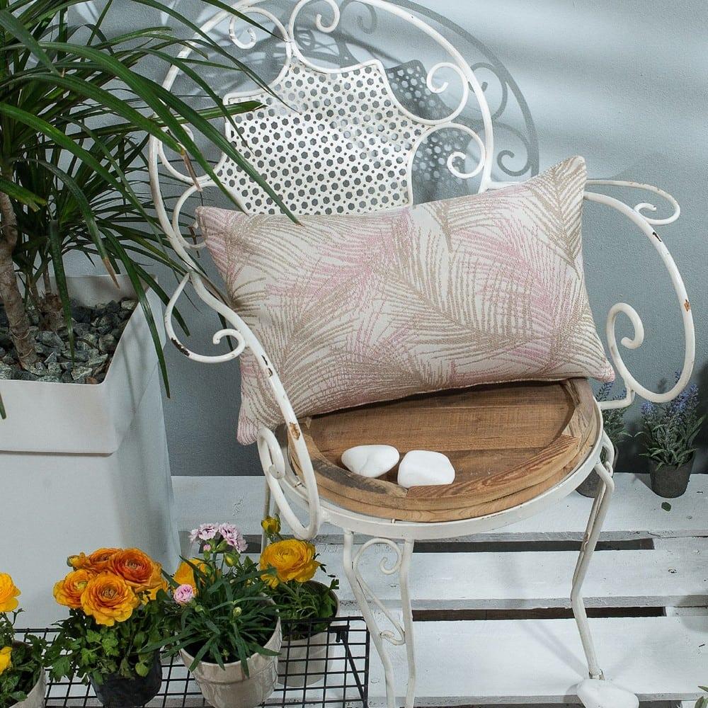 Μαξιλάρι Διακοσμητικό (Με Γέμιση) Toscana 06 Pink Teoran 30Χ50 Βαμβάκι-Polyester