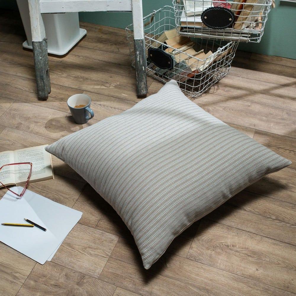 Μαξιλάρι Διακοσμητικό Δαπέδου (Με Γέμιση) Capri 01 Ecru Teoran 60X60 Βαμβάκι-Polyester