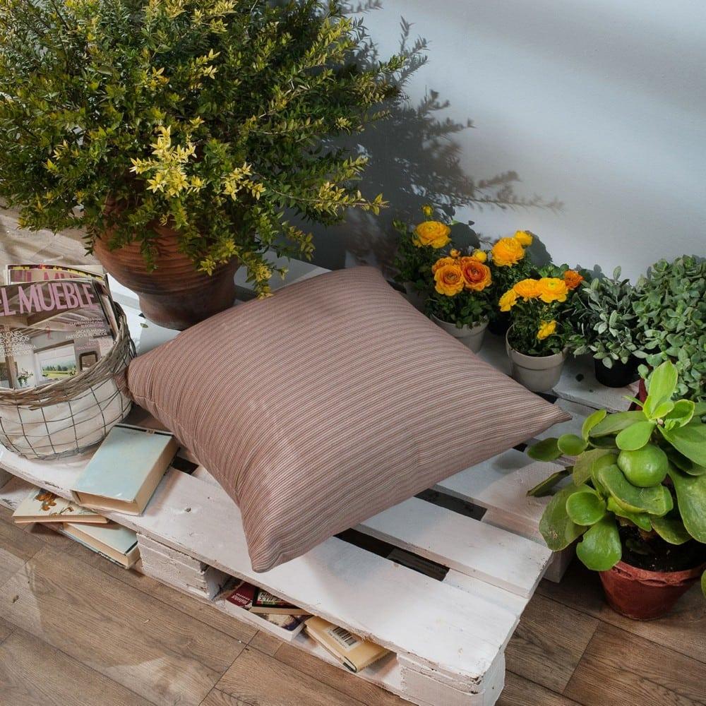 Μαξιλάρι Διακοσμητικό Δαπέδου (Με Γέμιση) Capri 06 Pink Teoran 60X60 Βαμβάκι-Polyester