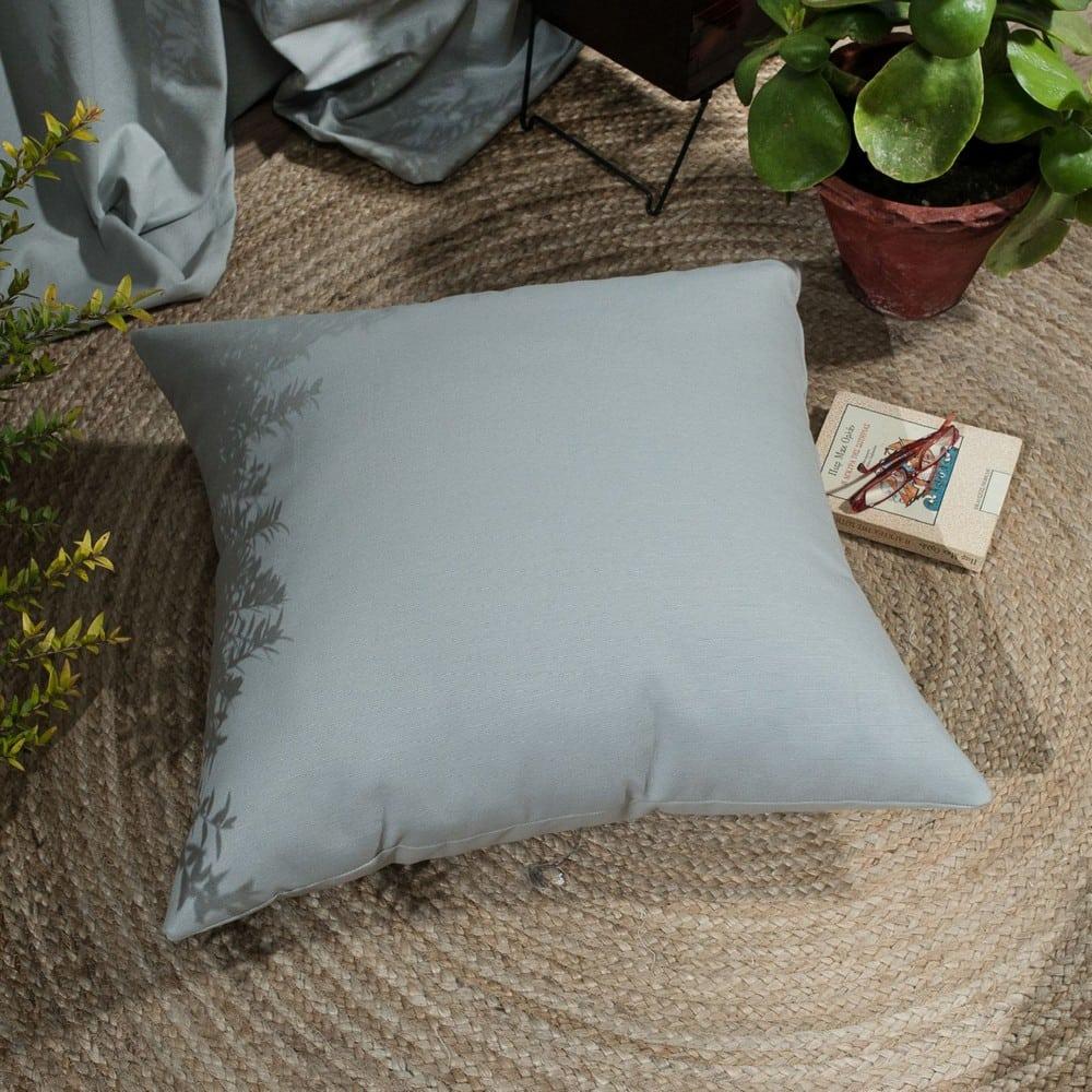 Μαξιλάρι Διακοσμητικό Δαπέδου (Με Γέμιση) Chroma 04 Grey Teoran 60X60 Βαμβάκι-Polyester