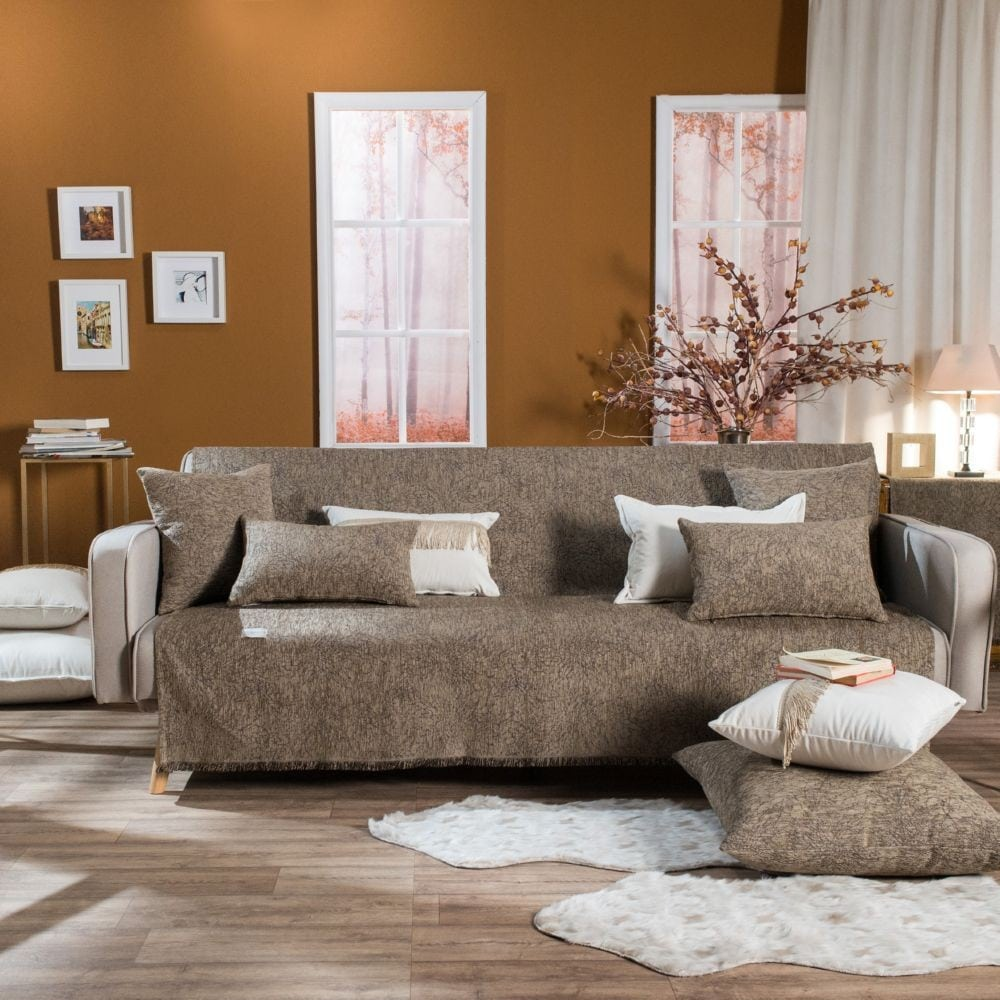 Μαξιλάρι Διακοσμητικό Δαπέδου (Με Γέμιση) Dallas 03 Brown Teoran 60X60 Ακρυλικό-Polyester