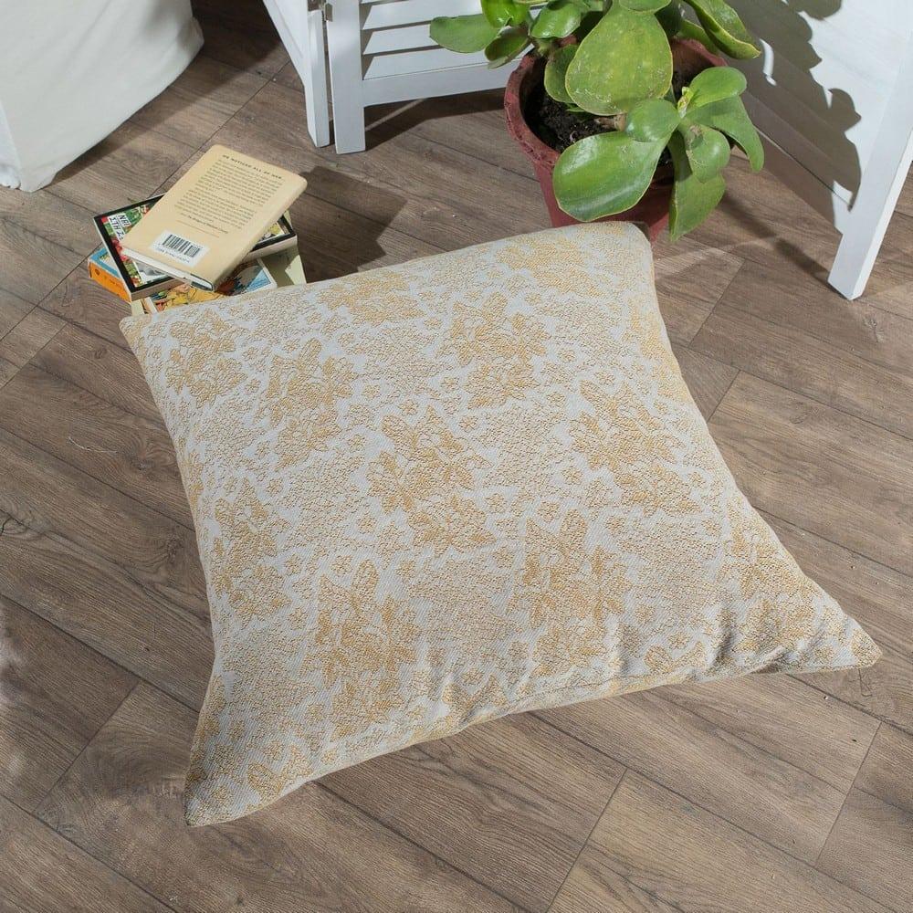 Μαξιλάρι Διακοσμητικό Δαπέδου (Με Γέμιση) Monza 14 Yellow Teoran 60X60 Βαμβάκι-Polyester