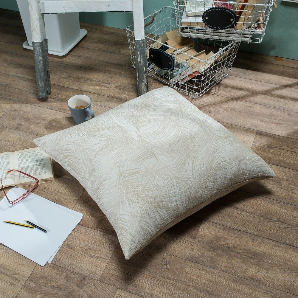 Μαξιλάρι Διακοσμητικό Δαπέδου (Με Γέμιση) Toscana 01 Ecru Teoran 60X60 Βαμβάκι-Polyester