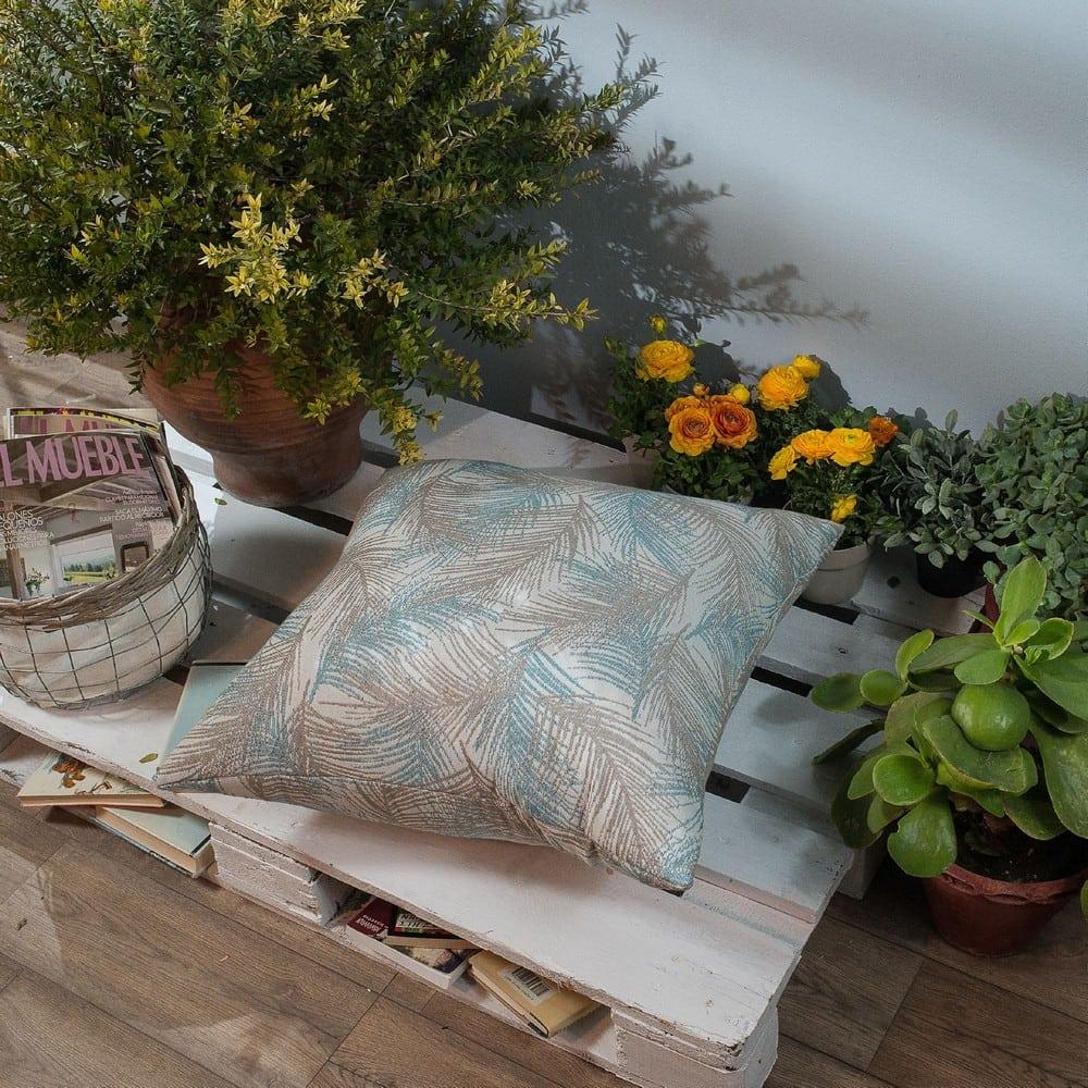 Μαξιλάρι Διακοσμητικό Δαπέδου (Με Γέμιση) Toscana 05 Blue Teoran 60X60 Βαμβάκι-Polyester