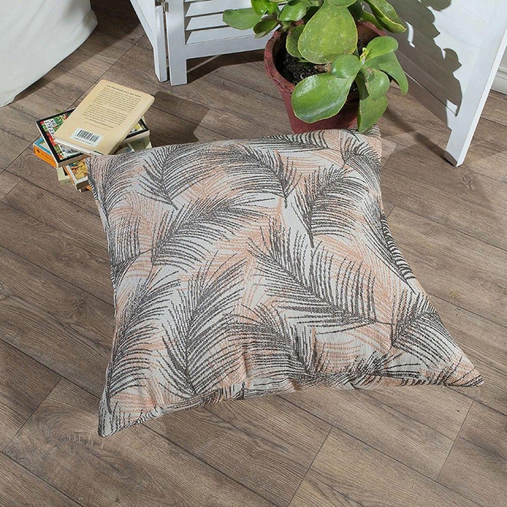 Μαξιλάρι Διακοσμητικό Δαπέδου (Με Γέμιση) Toscana 15 Terracotta Teoran 60X60 Βαμβάκι-Polyester