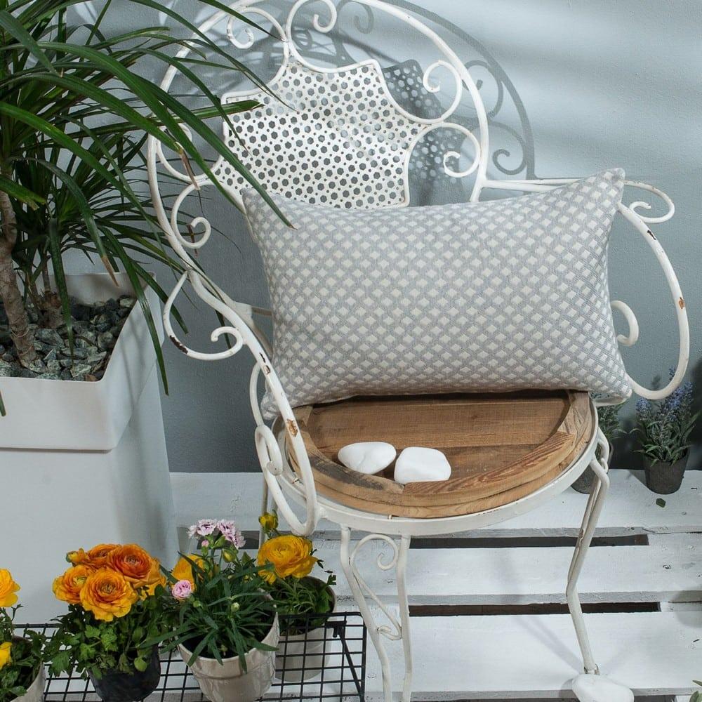Μαξιλαροθήκη Διακοσμητική Bellagio 04 Grey Teoran 30Χ50 Βαμβάκι-Polyester