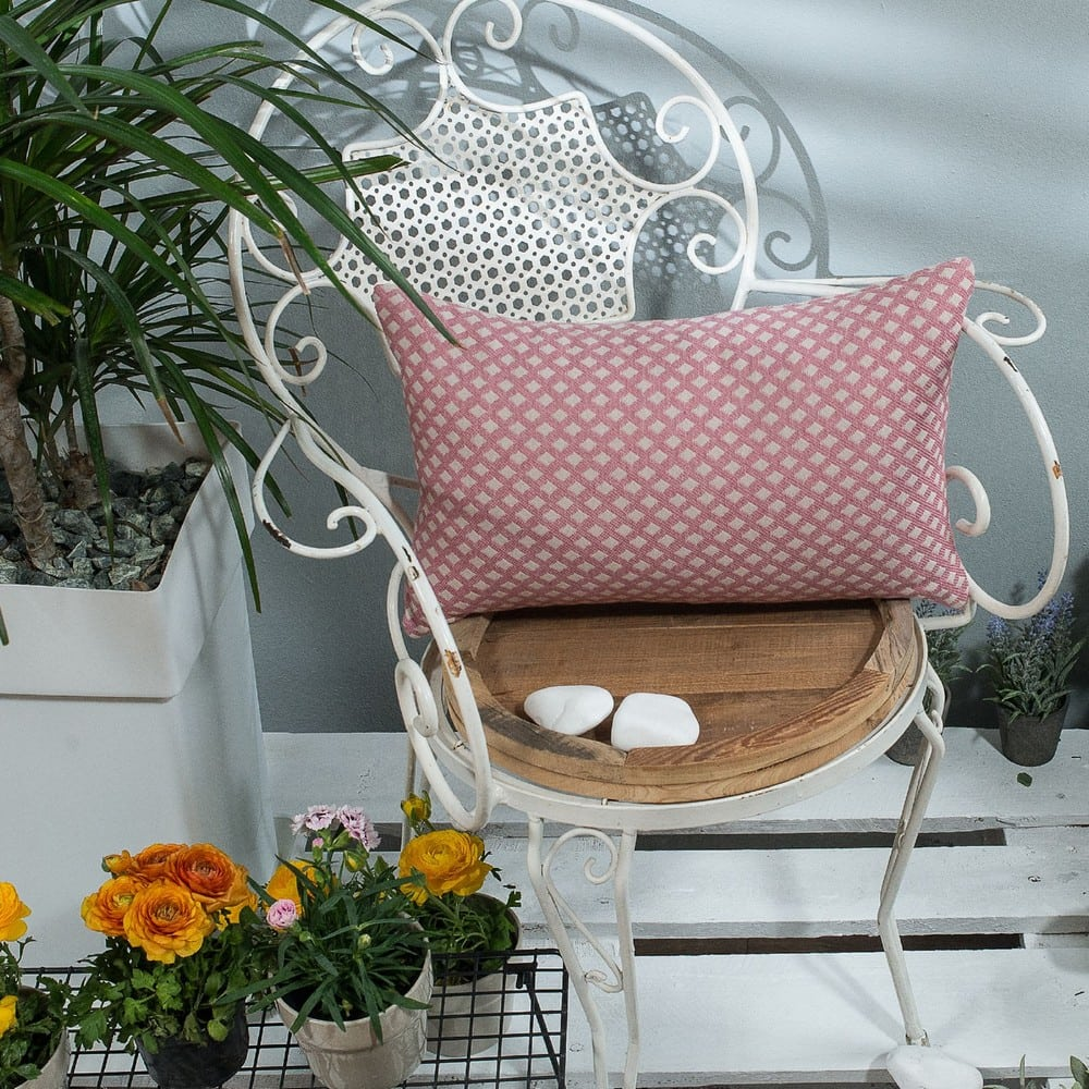 Μαξιλαροθήκη Διακοσμητική Bellagio 06 Pink Teoran 30Χ50 Βαμβάκι-Polyester