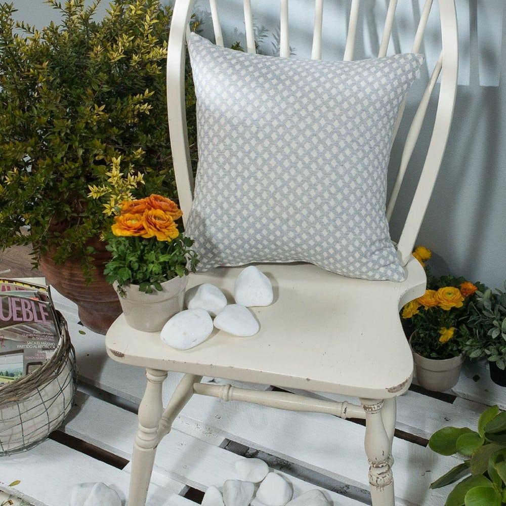 Μαξιλαροθήκη Διακοσμητική Bellagio 04 Grey Teoran 45X45 Βαμβάκι-Polyester