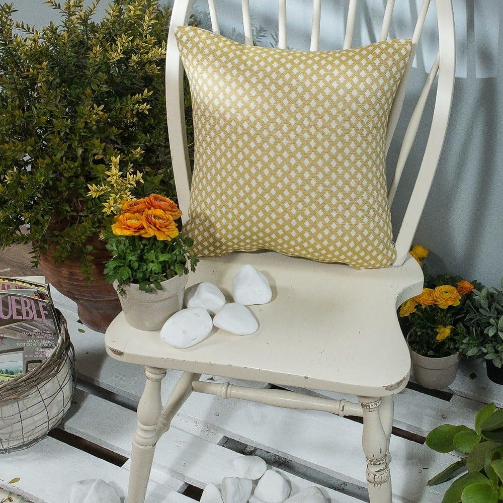 Μαξιλαροθήκη Διακοσμητική Bellagio 08 Mustard Teoran 45X45 Βαμβάκι-Polyester