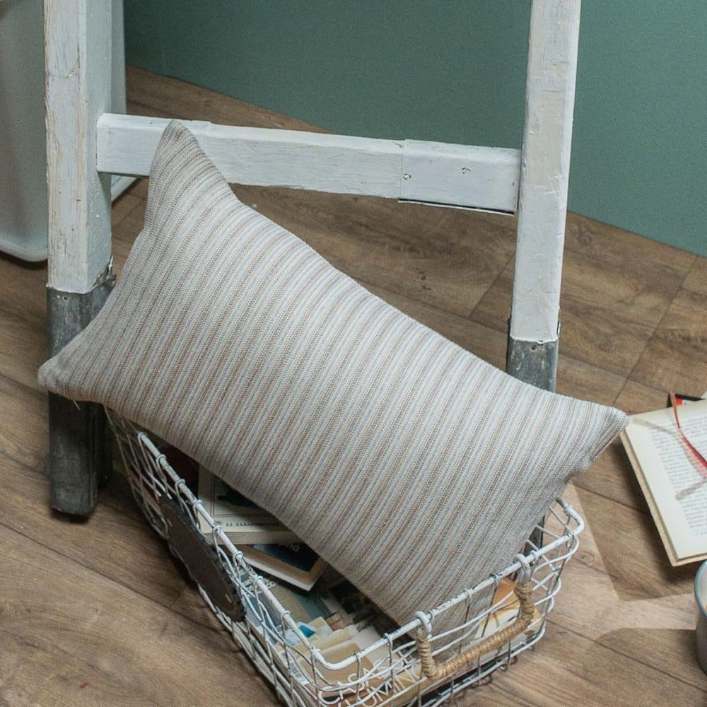 Μαξιλαροθήκη Διακοσμητική Capri 01 Ecru Teoran 30Χ50 Βαμβάκι-Polyester