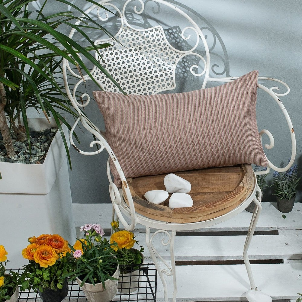 Μαξιλαροθήκη Διακοσμητική Capri 06 Pink Teoran 30Χ50 Βαμβάκι-Polyester