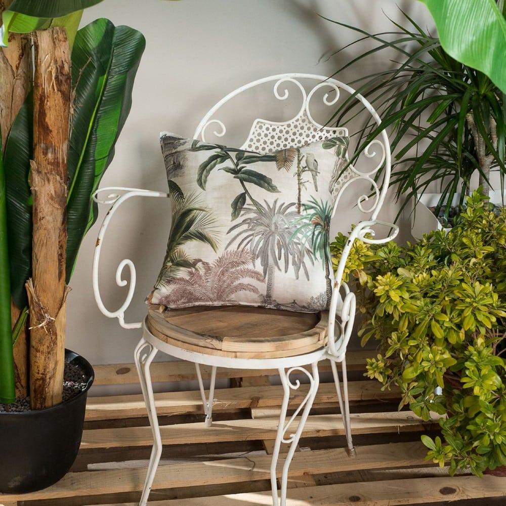 Μαξιλαροθήκη Διακοσμητική Kenya Beige-Green Teoran 45X45 Βαμβάκι-Polyester