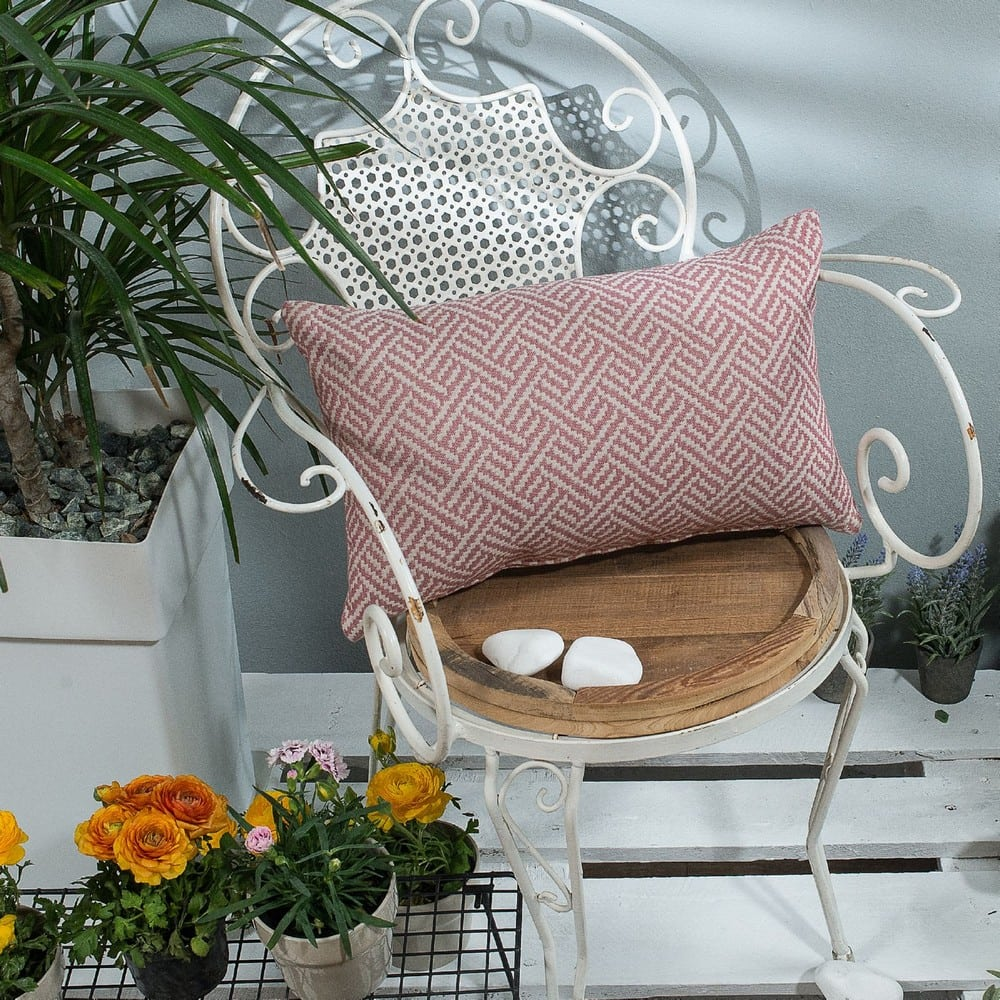 Μαξιλαροθήκη Διακοσμητική Ravela 06 Pink Teoran 30Χ50 Βαμβάκι-Polyester