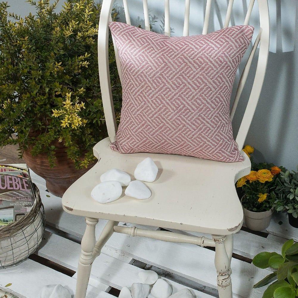 Μαξιλαροθήκη Διακοσμητική Ravela 06 Pink Teoran 45X45 Βαμβάκι-Polyester