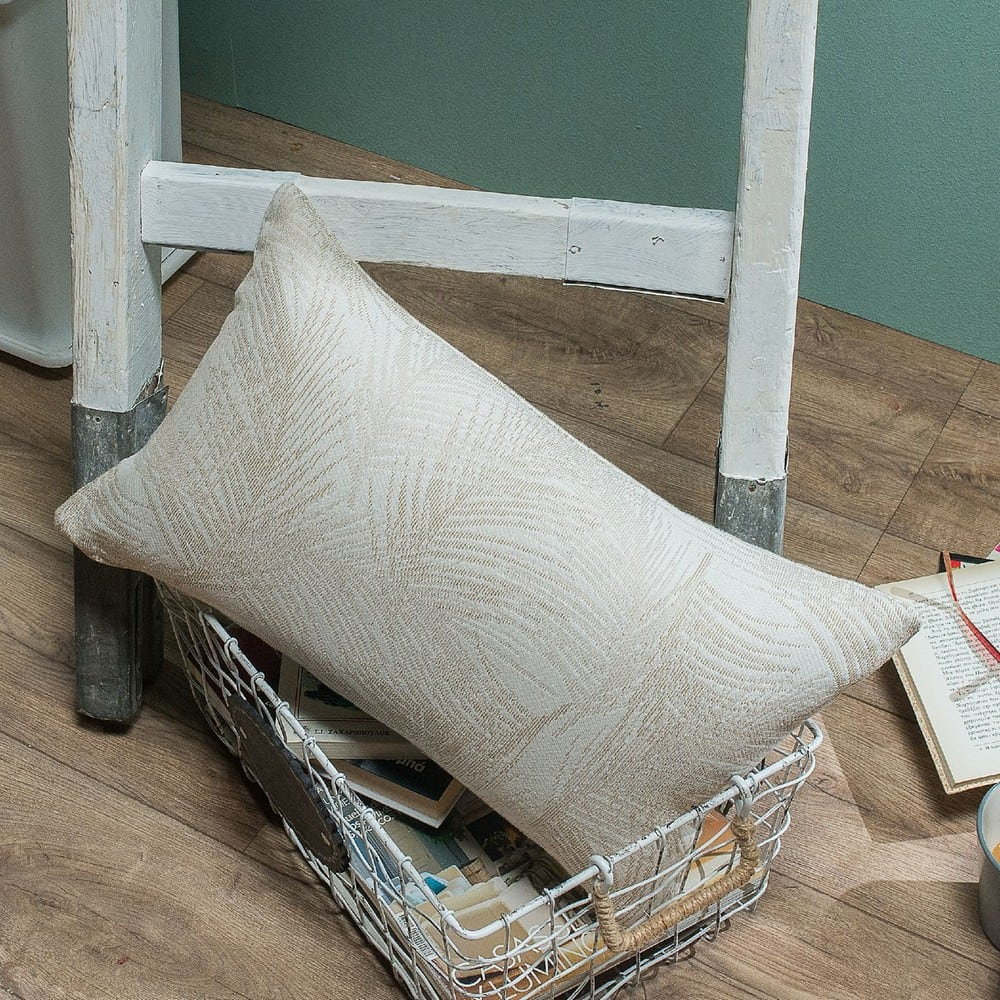 Μαξιλαροθήκη Διακοσμητική Toscana 01 Ecru Teoran 30Χ50 Βαμβάκι-Polyester