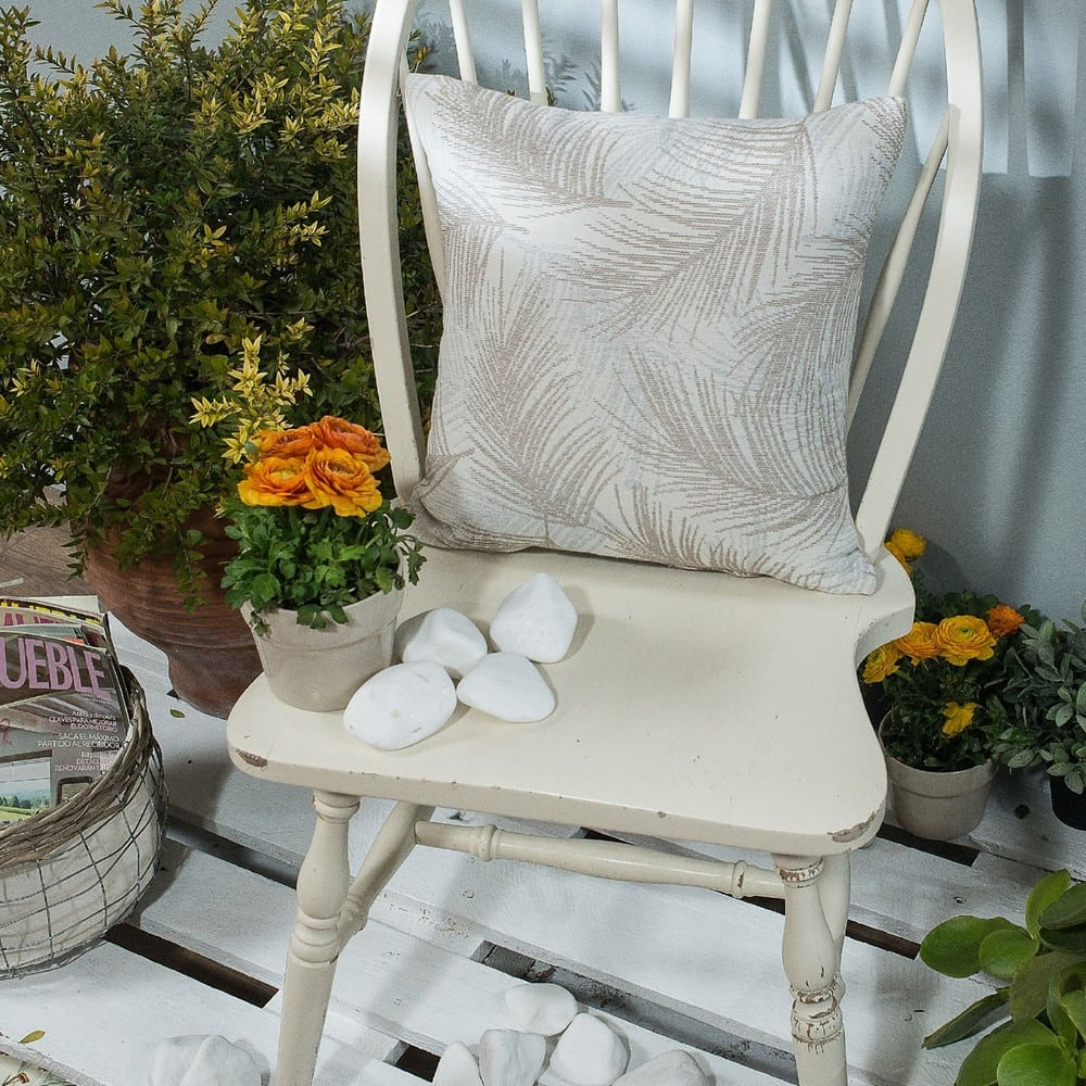 Μαξιλαροθήκη Διακοσμητική Toscana 04 Grey Teoran 45X45 Βαμβάκι-Polyester