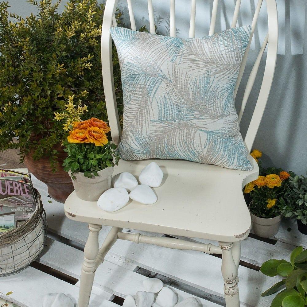 Μαξιλαροθήκη Διακοσμητική Toscana 05 Blue Teoran 45X45 Βαμβάκι-Polyester