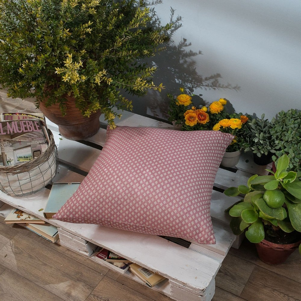 Μαξιλαροθήκη Διακοσμητική Δαπέδου Bellagio 06 Pink Teoran 60X60 Βαμβάκι-Polyester