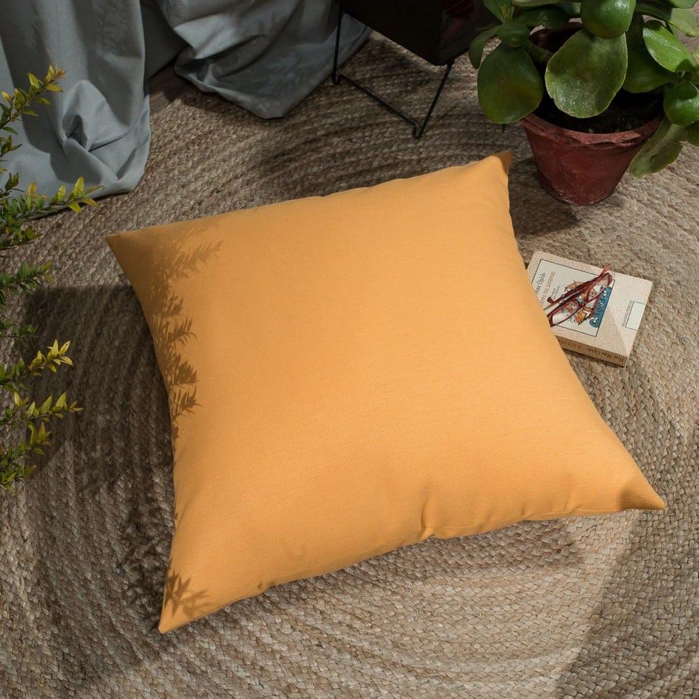 Μαξιλαροθήκη Διακοσμητική Δαπέδου Chroma 14 Orange Teoran 60X60 Βαμβάκι-Polyester