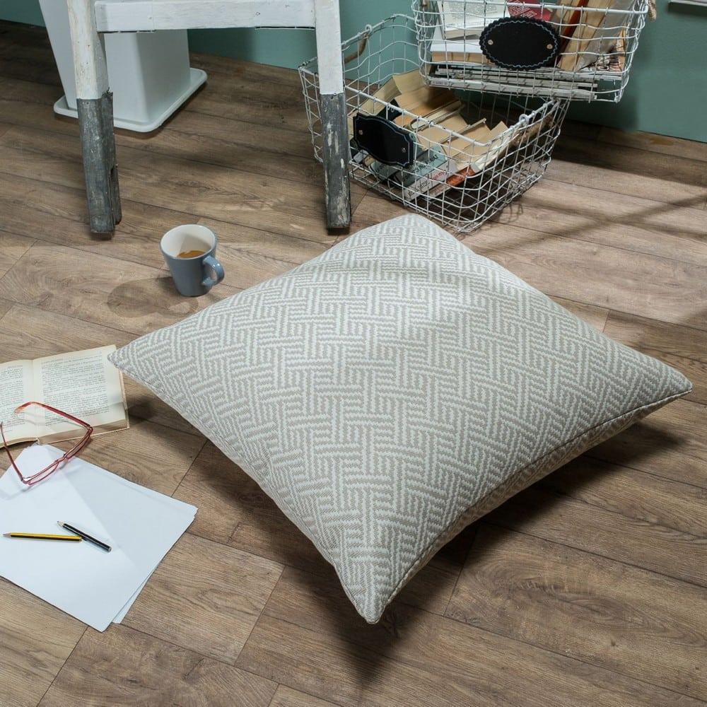 Μαξιλαροθήκη Διακοσμητική Δαπέδου Ravela 01 Ecru Teoran 60X60 Βαμβάκι-Polyester