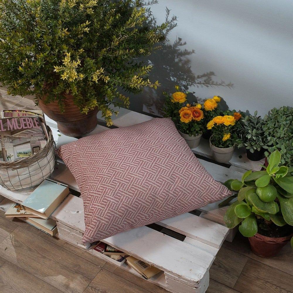 Μαξιλαροθήκη Διακοσμητική Δαπέδου Ravela 06 Pink Teoran 60X60 Βαμβάκι-Polyester
